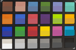 ColorChecker: The target color is displayed in the lower half of each patch.