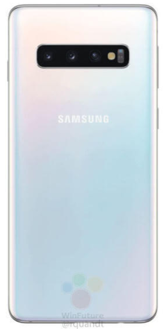 Samsung Galaxy S10 in white. (Source: WinFuture)