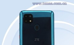 The square-cammed new ZTE phone. (Source: TENAA)