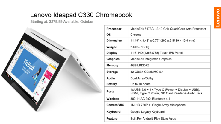 Lenovo Ideapad C330 Chromebook (Source: Lenovo)