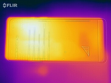 Heat map of the front of the device under load
