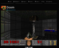 A Chromebook can run Doom, although sadly it's a flash port on a gaming website.