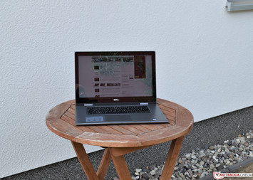 The Dell Inspiron 15 5579 in the shade