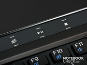 The special function touch buttons.