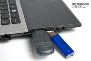 Room could be a problem with larger USB sticks.
