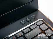 3 hot keys are located over the keyboard's right.