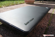 Lenovo relies mostly on a soft touch surface,