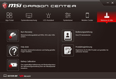 MSI Dragon Center, Tools & Help