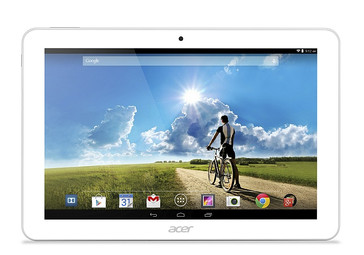 Acer Iconia Tab 10 straight on white