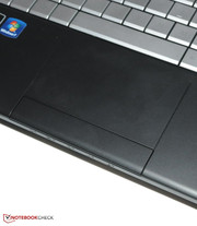 The touchpad merges (too) seamlessly into the design.
