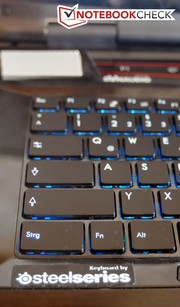 The keyboard has been developed in cooperation with SteelSeries.