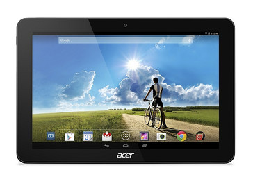 Acer Iconia Tab 10 straight on grey