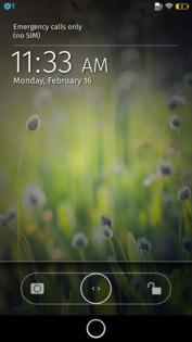 The lock screen is pretty simple and functional.
