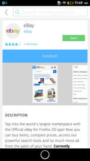 "There are not many apps in the store yet, the ""Ebay"" app only opens the Indian website."