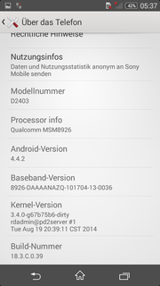 Android 4.4.2 is preloaded.