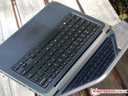 The input devices are familiar from the XPS 13, ...