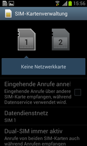 SIM card management