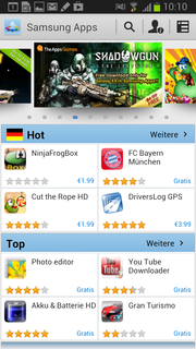 Samsung has its own AppStore.