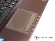 ... and the touchpad are also well-known to us from other Asus notebooks