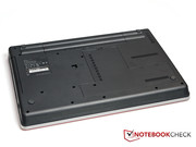 The back of the ThinkPad Edge E525, without the docking port.