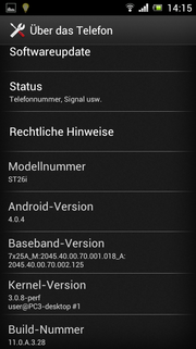 Android 4.0.4 with the prospect of an update.