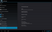 With Android 4.1.1 the tablet is up to date.