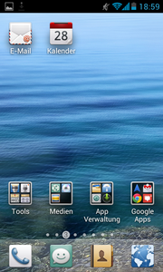 All apps are present on the home screens - this means chaos.