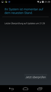 The Nexus 5 is provided directly with updates.