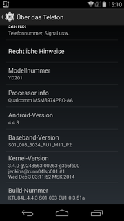 Android 4.4.3 is preloaded.
