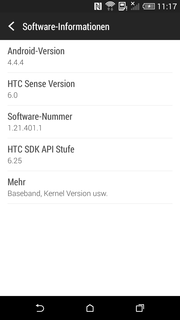 Android 4.4.4 and HTC Sense 6.0.