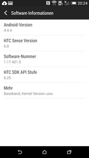 The latest version of KitKat is preloaded.