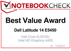 Best Value Award in December 2014: Dell Latitude 14 E5450