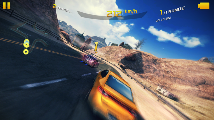 Asphalt 8 runs smoothly in the highest detail level