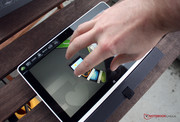 "Five fingers on the touchpad activate ""Acer Ring""."