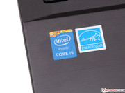 Heart of the notebook is a fast Core i5-4210U.