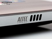 Experts from Altec Lansing take care of the sound system.