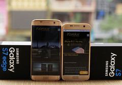 Custom-made Samsung Galaxy S7 and Galaxy S7 Edge in 24K gold by Karalux