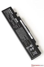 The supplied battery has a capacity of 57 Wh, ...