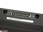 The Dell Latitude E7240 features a conventional docking port.