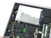 The conventional hard drive can be swapped out.
