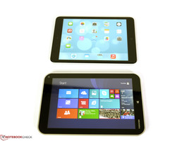Toshiba Encore WT8 (above) and the iPad Mini (below) compared