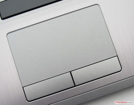The touchpad supports multi-touch
