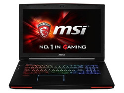 MSI GT72. Test model provided by MSI Deutschland.