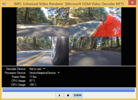 Benchmark of a 100 Mbit MP4 4K video