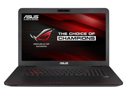 Asus GL771JW-T7082H. Test model courtesy of Notebooksbilliger.de