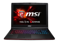 The MSI GE62-2QFUi716H11. Test model provided by notebooksbilliger.de