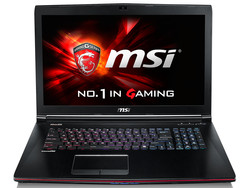 The MSI GE72-2QDi716H11. Test model provided by Cyberport.de