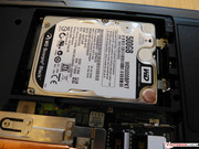 Next to the installed hard drive...