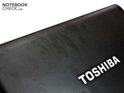 Toshiba uses a surface texture that is supposed to deter fingerprints – but it's not completely successful.