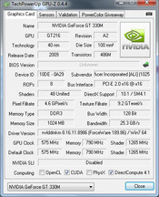 GPU-Z Nvidia GeForce 330M